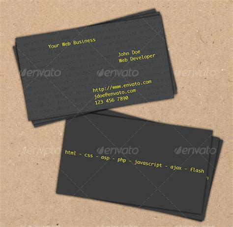 web developer business card templates 25 web developer business card templates free premium