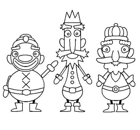 imagenes reyes magos para pintar dibujo de reyes magos para colorear dibujos net