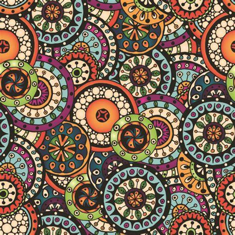 beautiful pattern beautiful ethnic style seamless patterns vector set 04