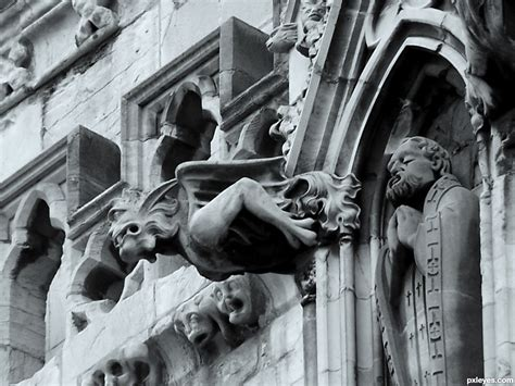 gargoyle at york picture by jim61 for architecture photography contest pxleyes