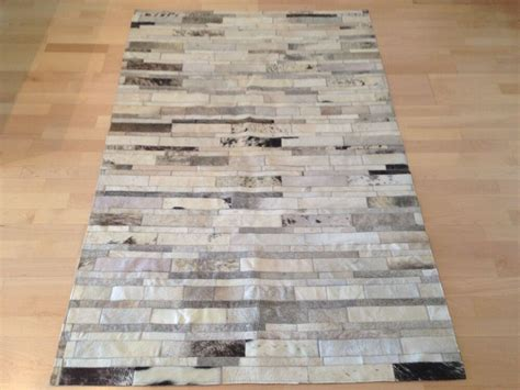 patchwork cowhide leather rugs new cowhide rug patchwork leather carpet ebay