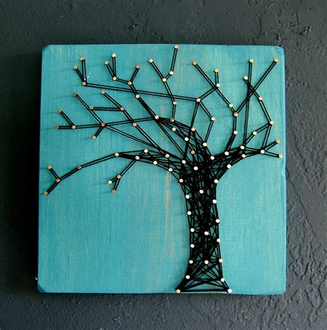 Tree String - modern string wooden tablet winter oak on cozumel