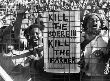 white genocide in south africa here are the names black south africans sing kill the boer kill the farmer