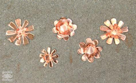 framed flowers on copper sheet craft ideas pinterest these copper garden art flowers will never stop blooming