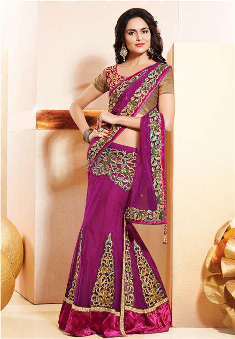 how to drape lehenga style saree eves24 5 stylish ways to drape a saree