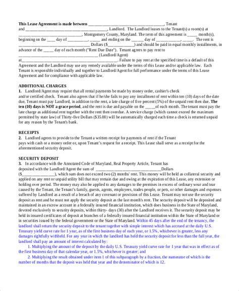 standard lease agreement sle standard lease agreement form 9 free documents