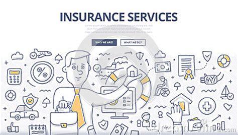 doodle graphic design services insurance services doodle concept stock vector image