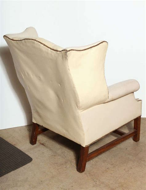 white leather wingback chair recliner white leather wing back chair at 1stdibs