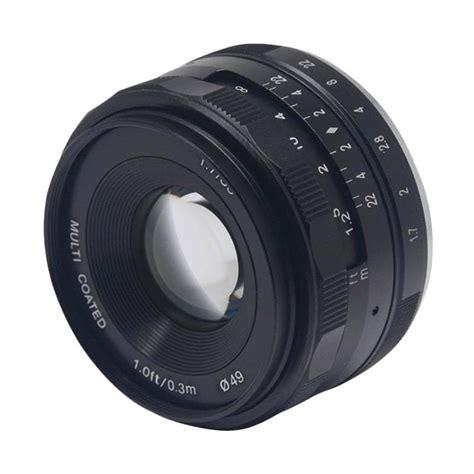 Lensa Wide Meike 35mm F1 7 Aps C For Micro 4 3 Mount Olympus Panasonic jual meike 35mm f1 7 aps c lensa kamera for fujifilm harga kualitas terjamin blibli