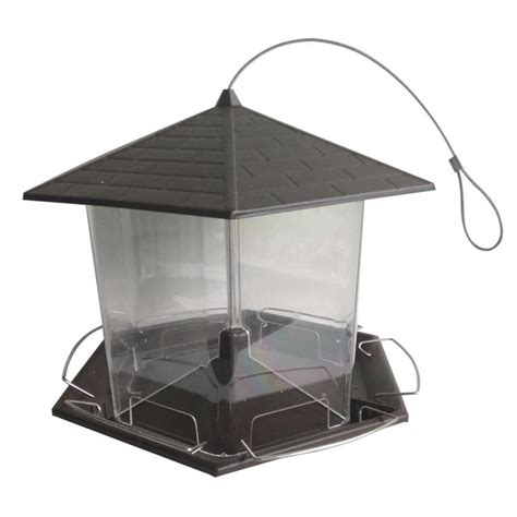 shop garden treasures large metal hopper bird feeder at