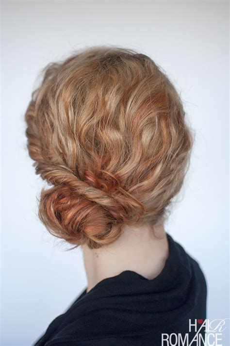 twisted side bun updo hairstyles tutorial popular haircuts the best curly hairstyle tutorials for frizzy hair hair