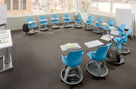 cool school desks steelcase node school desk the awesomer