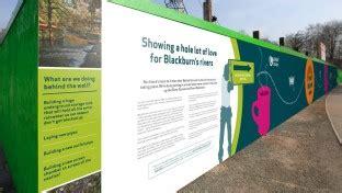 hoarding design maker construction hoarding signs london cheshire cambridge