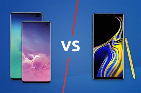 Samsung Galaxy S10 Vs S 10 Plus by Samsung Galaxy S10 S10 Plus Vs Samsung Galaxy Note 9 Trusted Reviews