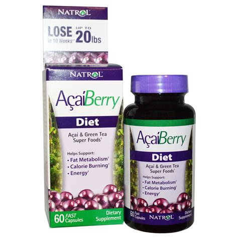 Natrol Acai Berry natrol acaiberry diet acai green tea foods 60