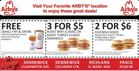 Printable Local Coupons, Free Restaurant Coupons Online ... Arby S Coupons