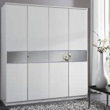 4 Door White Wardrobe by Fino Wardrobe In White Gloss With Drawers 20657 Furniture