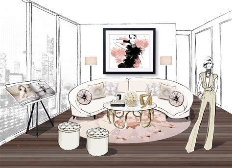 Array an unforgettable penthouse with exclusive megan hess designs couturing com