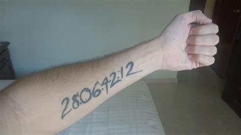 donnie darko numbers tattoo meaning my donnie darko tattoo donniedarko