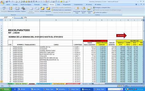 nomina en excel 2013 534x355 jpg formato nomina semanal excel pertamini co