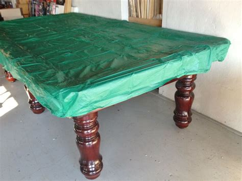 green ft fitted plastic pool snooker billiard table cover     table ebay