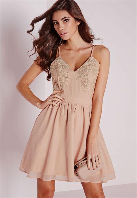 Dress Chiffon Top missguided lace top chiffon skater dress in