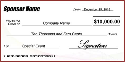check presentation template jumbo checks template pictures to pin on pinsdaddy