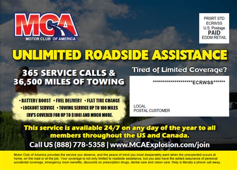 Mca Business Card Template by Motor Club Of America Towing Business Cards
