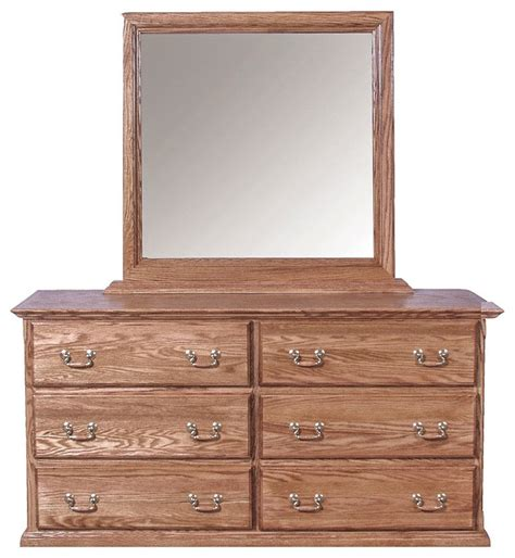 traditional dresser and mirror merlot oak dressers by