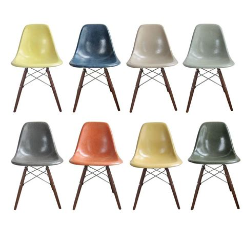 Eames Dining Chairs Eight Multicolored Herman Miller Eames Dining Chairs For Sale At 1stdibs