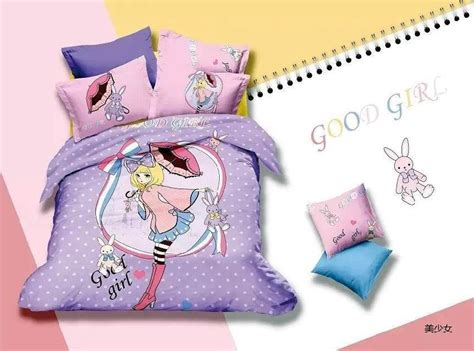 blue pink kids character girls cartoon bedding comforter