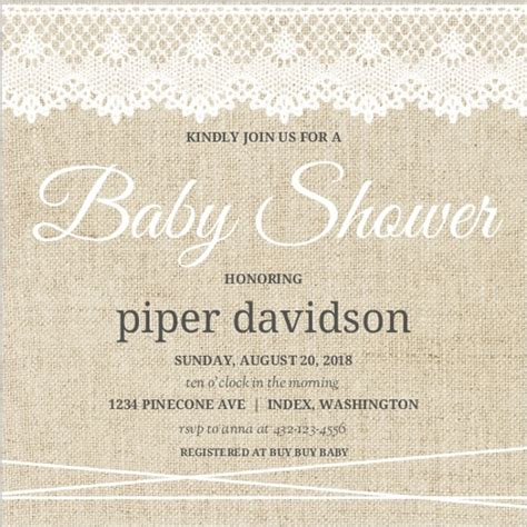 Vintage Invitations Baby Shower by Vintage Baby Shower Invites Vintage Burlap Lace Ba Shower
