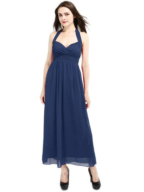 Halter Backless Dress new style new navy halter backless maxi dress more than 70