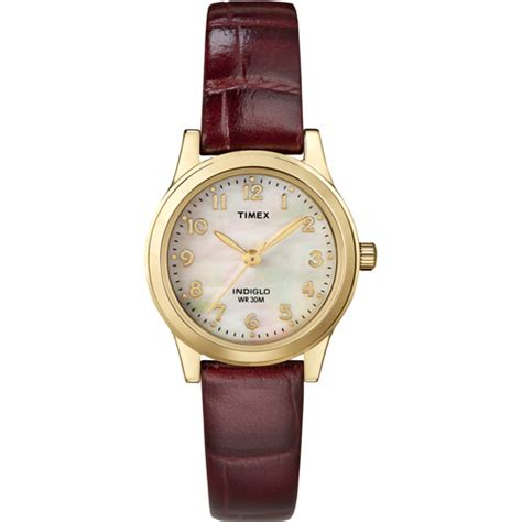 timex s dress burgundy leather