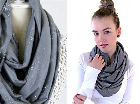 sparkling knit infinity scarf sew4home