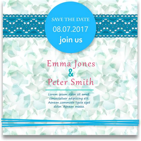 Wedding Card Design With by Wedding Card Design With Abstract Blue Background Free