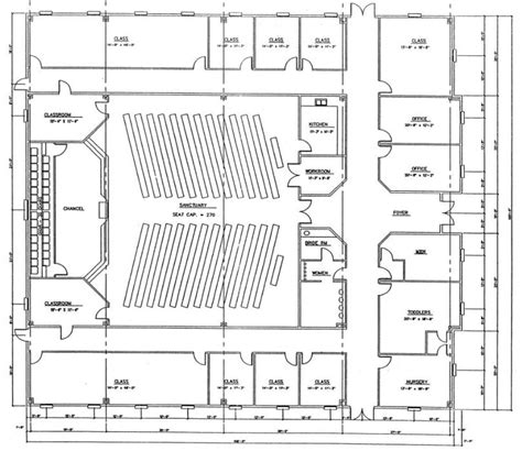 church floor plan designs church plan 139 lth steel structures
