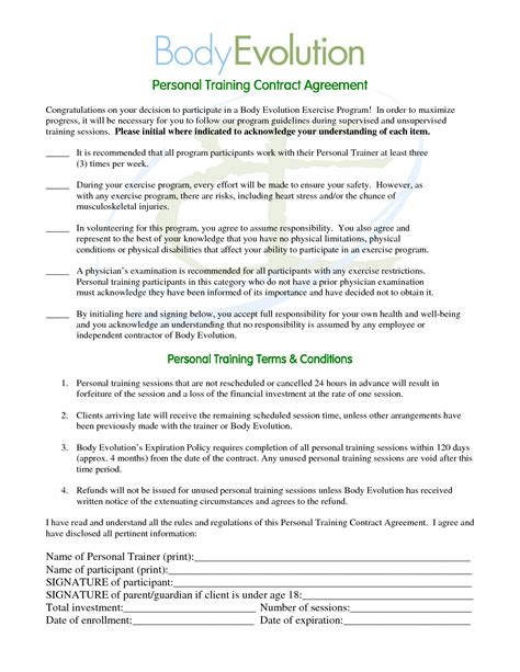 10 best images of personal contract agreement sle