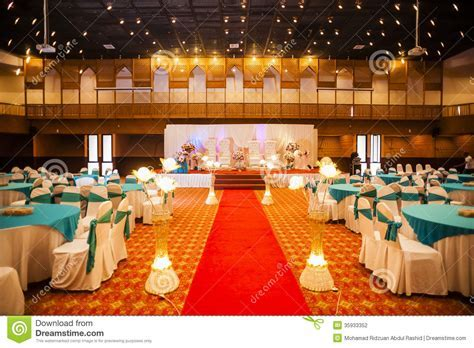 Wedding hall decoration stock photo. Image of wedding