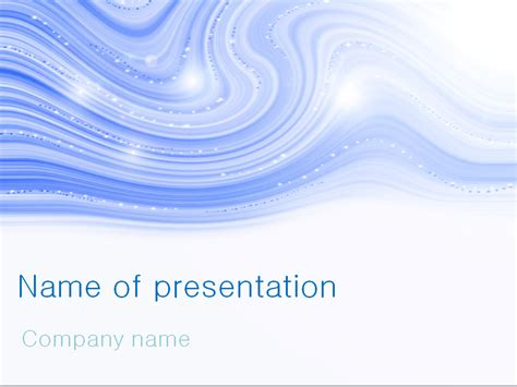 download free blue winter powerpoint template for