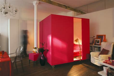 bed for studio apartment 187 mobile bed cube for a studio apartment at in seven colors colorful designs