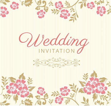 Wedding Invitation Card Design Free by 10 Free Vector Psd Floristic Wedding Invitation Card