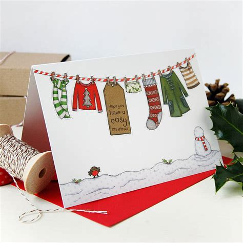 little girl s washing line christmas cards by clara and macy notonthehighstreet com - Macy S Christmas Gift Card