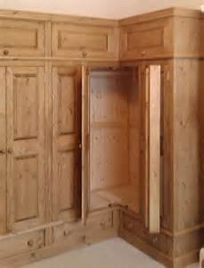 Fitted Corner Wardrobes pine and oak fitted wardrobes hedgehog furniture