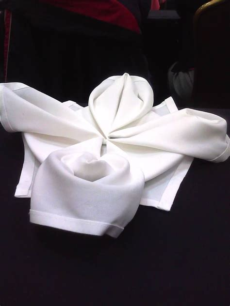 Towel Origami Flower - towel origami crafts