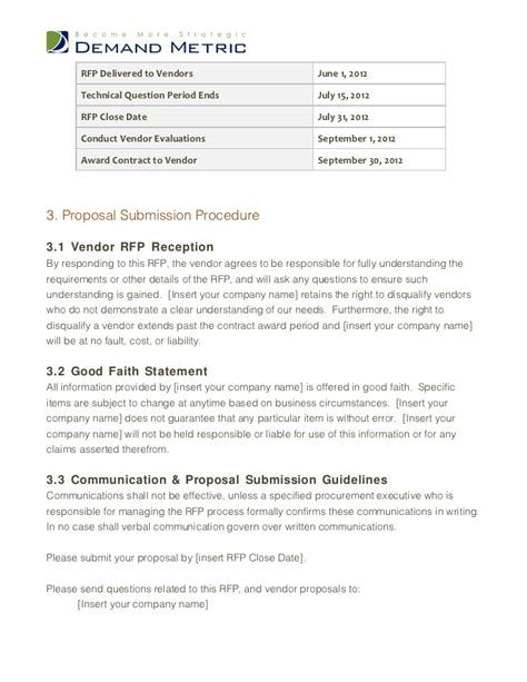 28 crm proposal sle the crm request for proposal