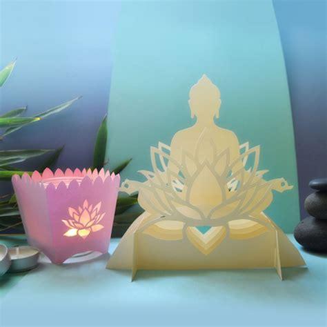 nelumbo lotus sacre photophore bouddha  lole  pop design papier origami kirigami