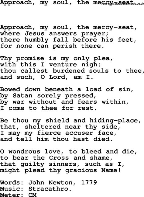 the seat of the soul pdf lent hymns song approach my soul the mercy seat