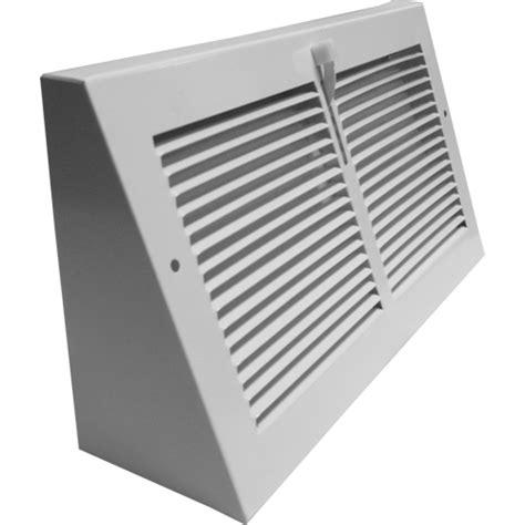 10 x 30 return floor register triangular baseboard register metal air vent