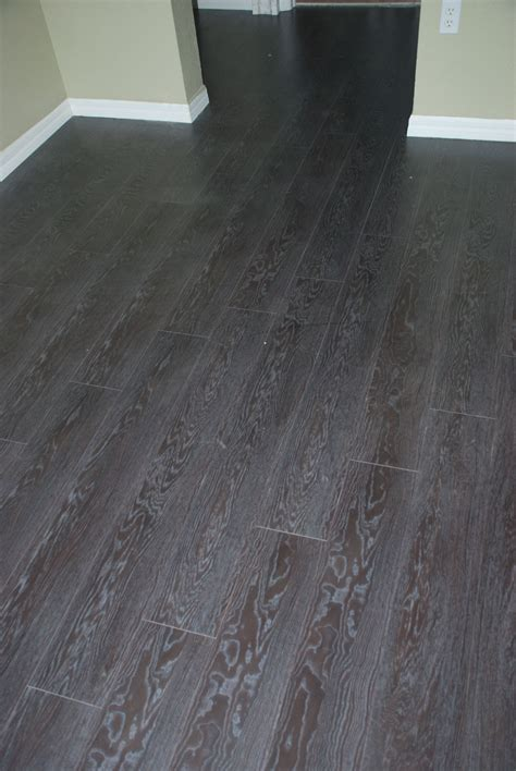 Gloss Black Oak Laminate Flooring